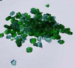 Skleněné střepy zelené