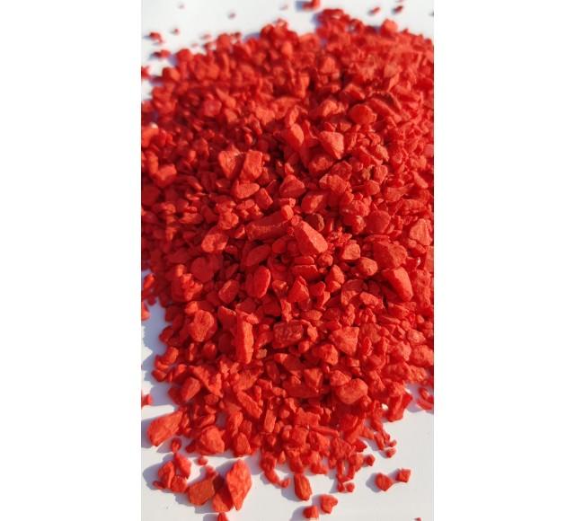 Barevná drť červená  2-5 mm