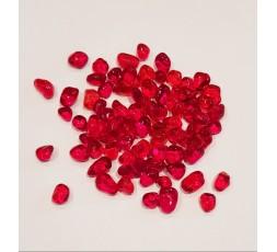 Skleněné kameny mini- červené