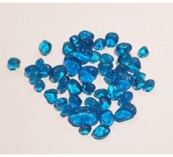 skleněné kameny mini- světle modrá
