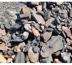 0 -63 mm Třízený praný haldový kámen