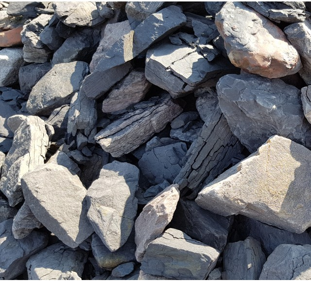 63-125 mm Třízený praný haldový kámen